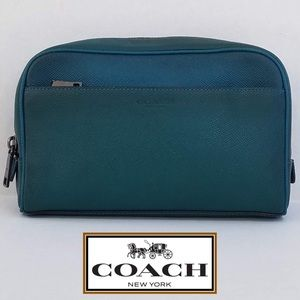 💼 Coach Teal Bleecker Leather Travel Case